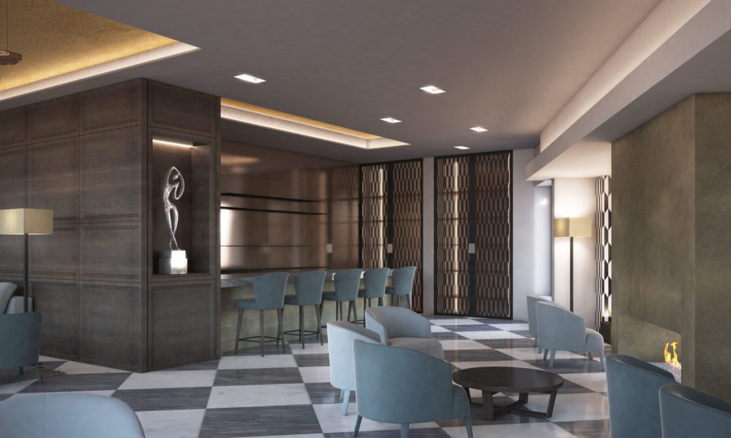 Bar Lobby Hotel Michelangelo Carrara