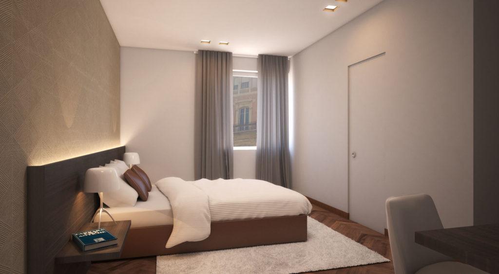 camera classic del Hotel Michelangelo Carrara, nel cuore della capitale del marmo. Eleganza e comfort